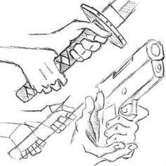236x236 Hand Holding Gun Drawing