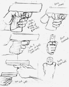 236x298 How To Draw Anime Weapons Both Hand Holding A Gun Or Rifle Art