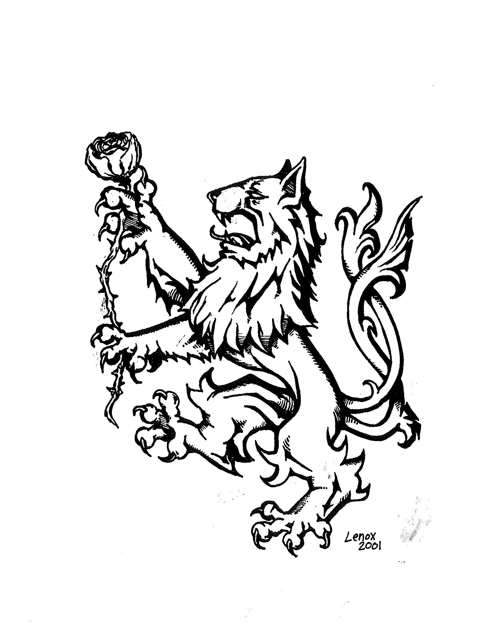 1704x2200 Lion Holding Rose 2001 Lambda Chi Alpha Logo Jason Lenox
