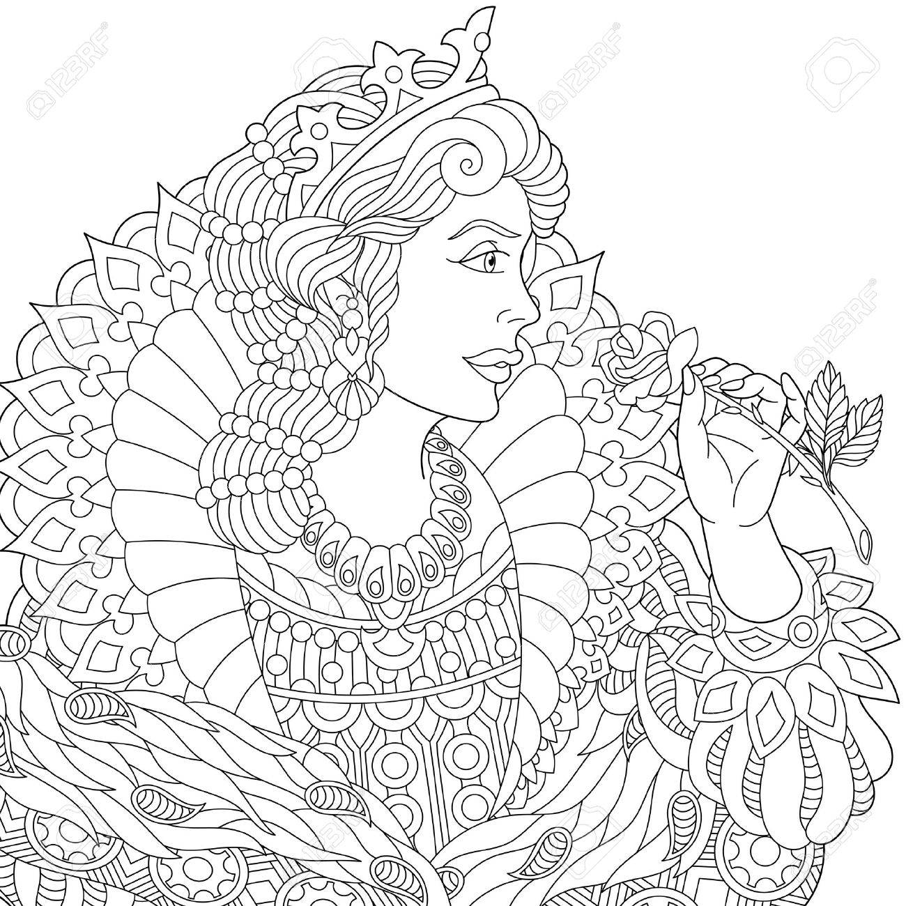 1300x1300 Stylized Young Beautiful Queen (Princess) In A Crown Is Holding