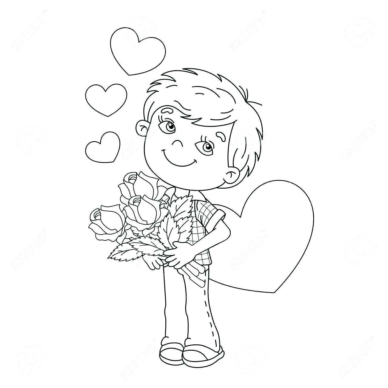 1300x1300 Coloring Coloring Pages Roses And Hearts Heart Rose Drawings