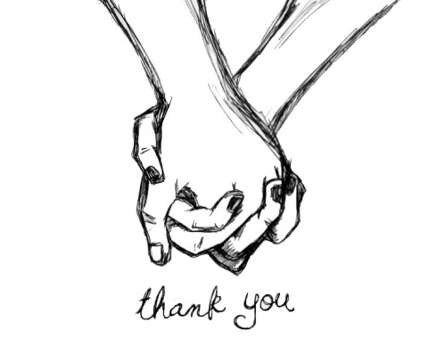 500x380 Drawing Couple Cute Thank You Holding Hands Aliensforsale