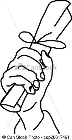 243x470 Drawn Paper Hand Holding