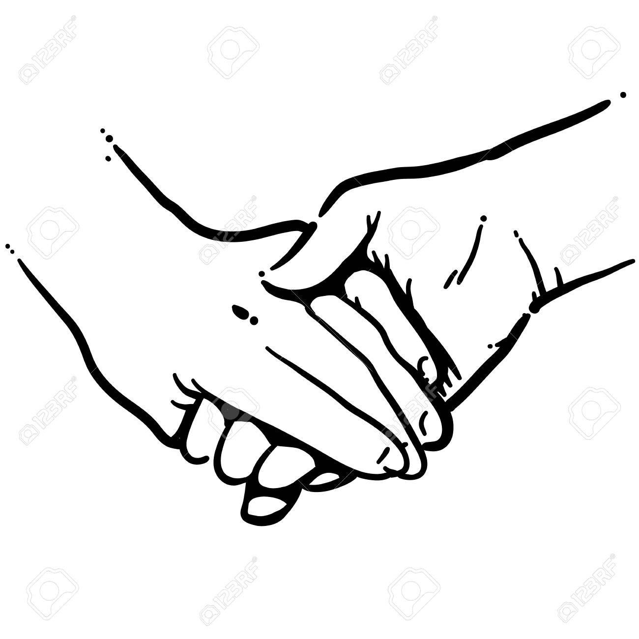1300x1300 Holding Hands Black And White Vector Art Royalty Free Cliparts