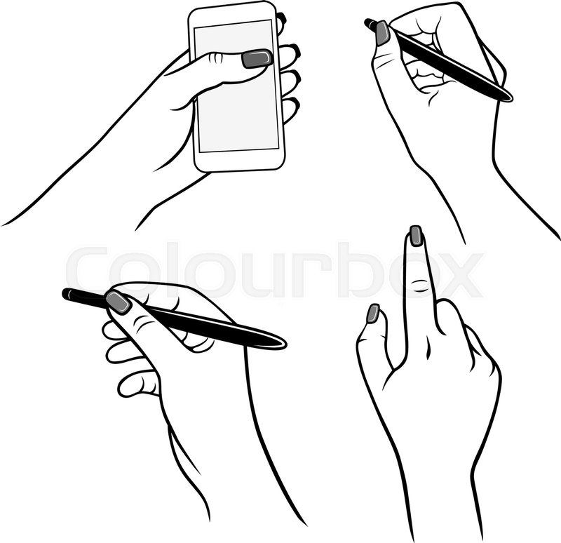 800x774 Holding Hands With Media Player (Vector Graphics), Stylus Pen