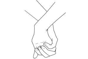 300x200 How To Draw Holding Hands