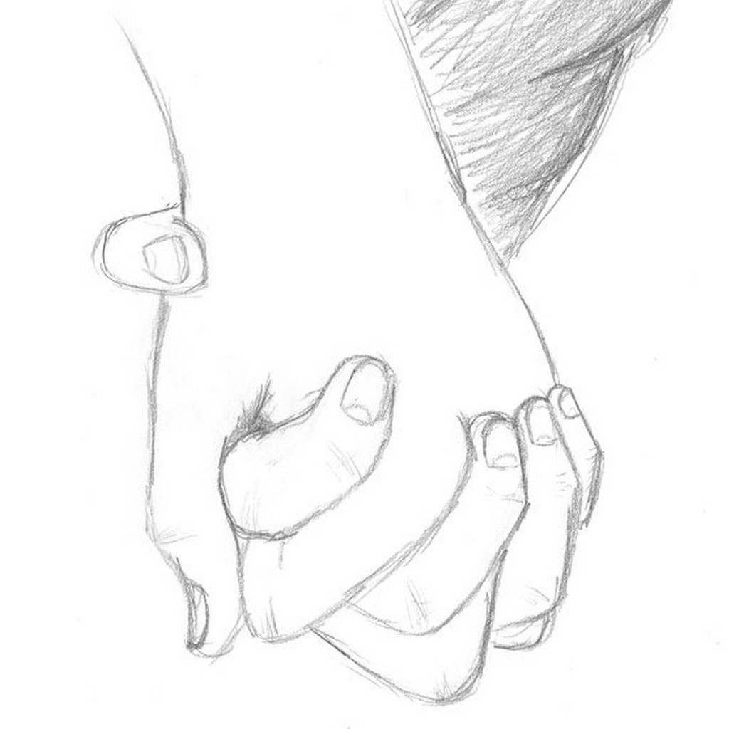1024x1024 Couples Drawings Anime Drawings Couples Holding Hands