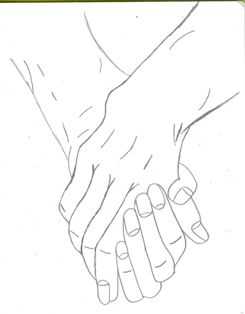 801x1024 People Holding Hands Drawing Draw Holding Hands How To Draw People