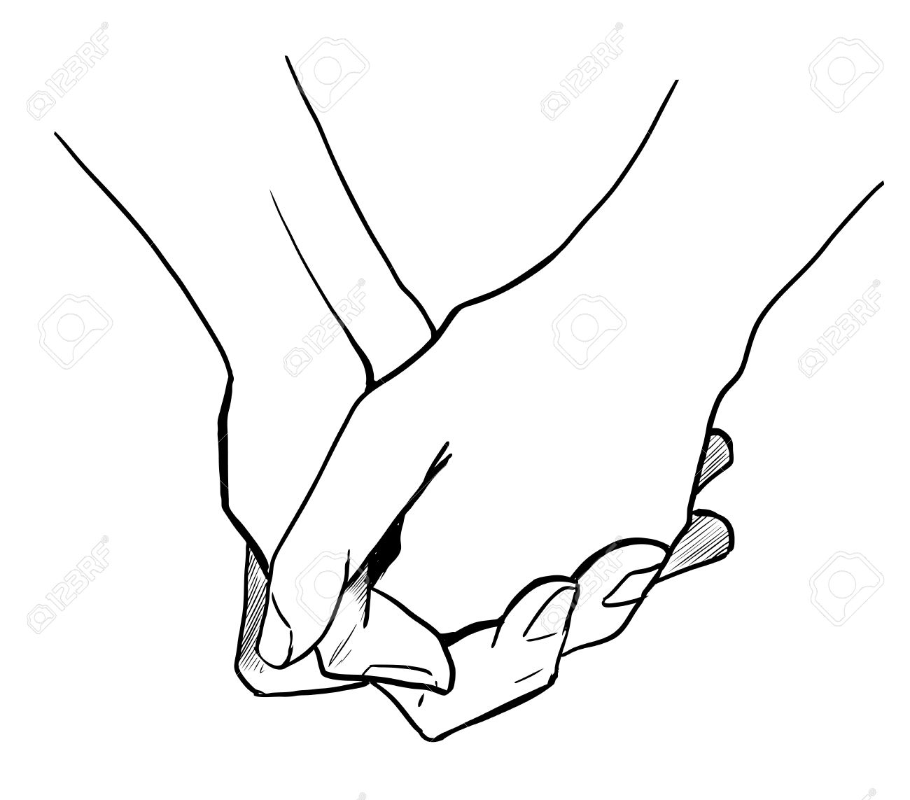 1300x1143 Two Persons Are Holding Hands Each Other Royalty Free Cliparts