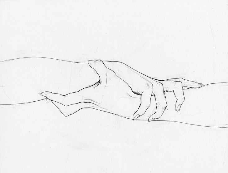 735x560 Pictures Boy Girl Hold My Hand Sketch,