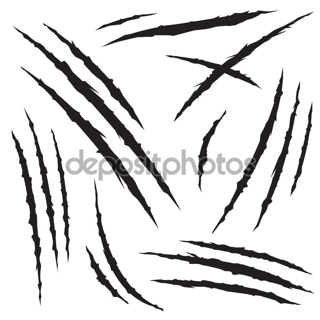 1024x1024 Monster Claw Hole Scratches Set Stock Vector Hellokisdottir