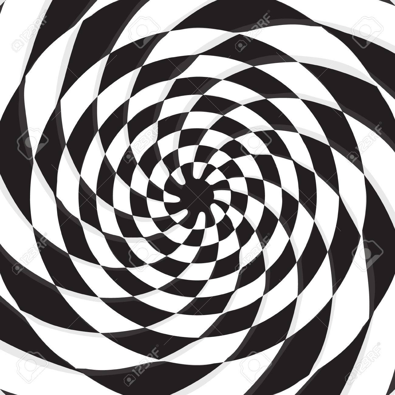 1300x1300 Abstract Black Hole On Twirl Checkerboard Vector Background