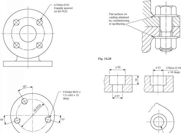 623x460 Dimensioning Counterbores