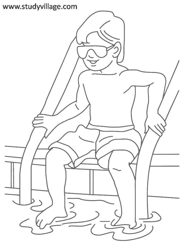 720x960 Summer Holidays coloring page for kids 13