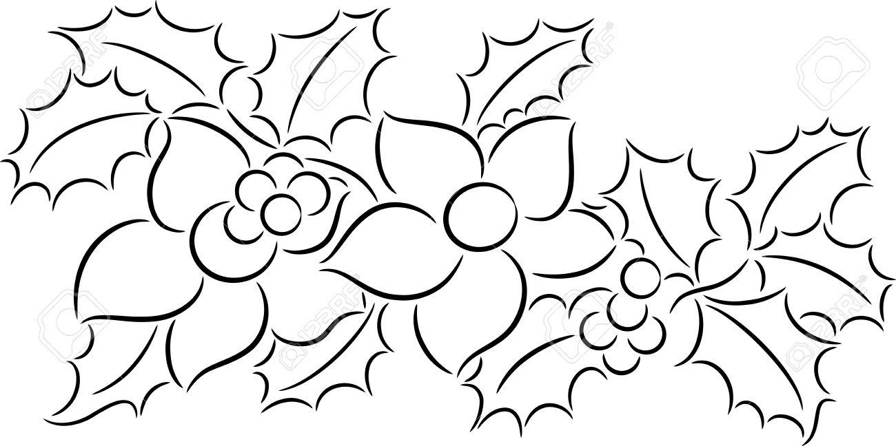 1300x648 Christmas Flower Drawing Christmas Flower Drawings – Halloween