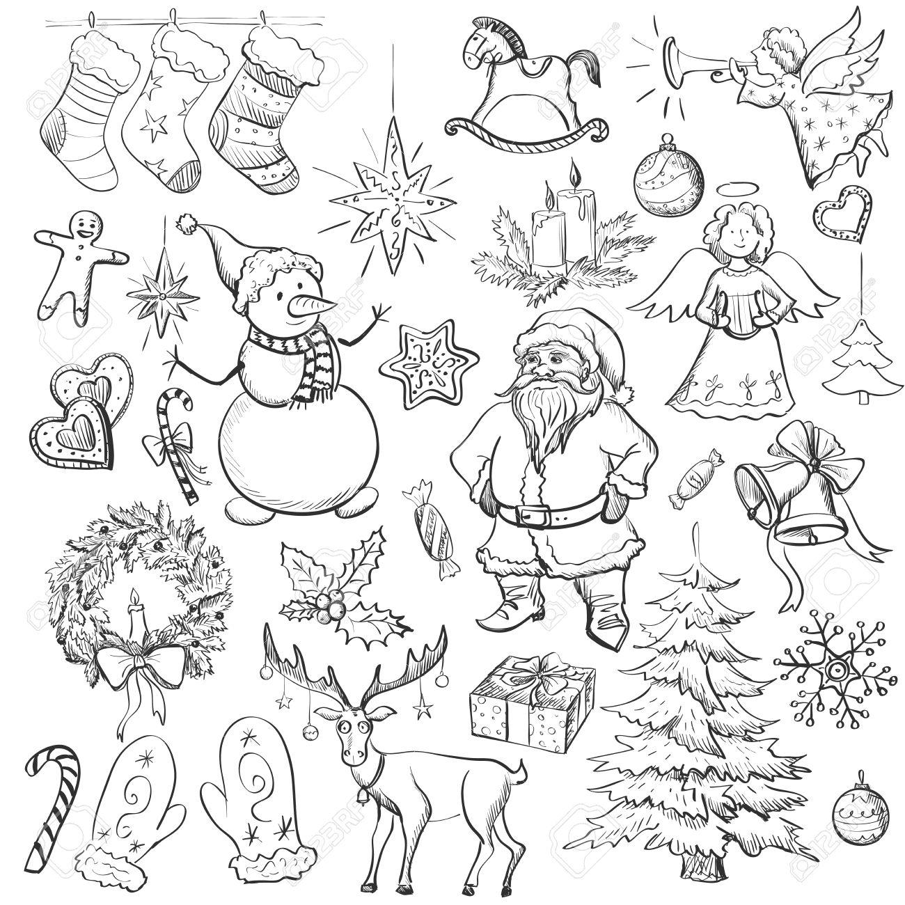 1300x1300 Drawn Christmas Holly