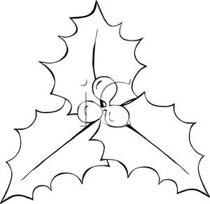 300x292 Clip Art Black And White Holly And Berries In Black And White