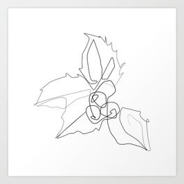 264x264 Christmas Holly Art Prints Society6