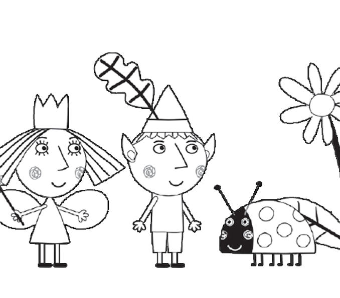 678x595 Ben And Holly Pictures To Print Coloring Page