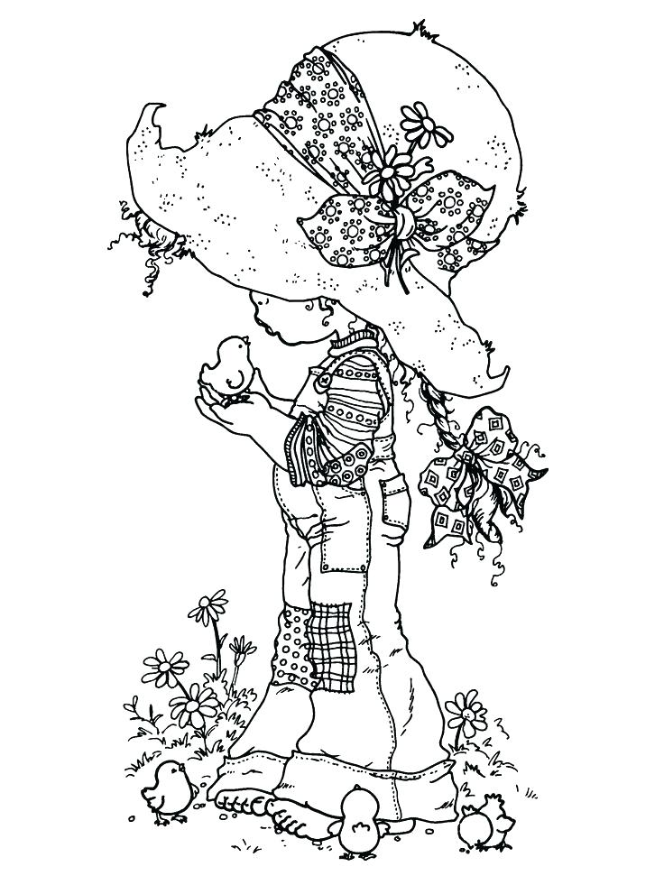 736x981 Holly Hobbie Coloring Pages Paint Colour Holly Drawing Vintage
