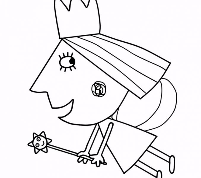 678x600 Ben And Holly Pictures To Print Ben And Holly Coloring Pages Many