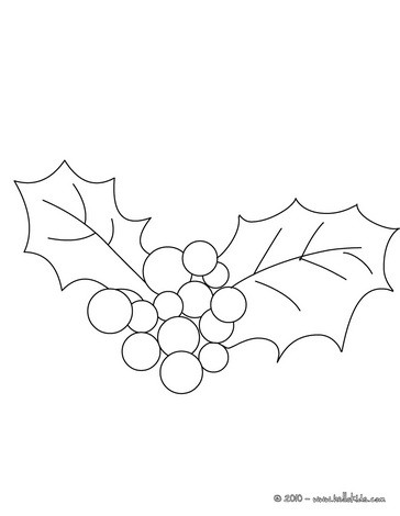 364x470 Holly Branch Coloring Pages