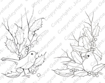 340x270 Holiday Clip Art Holly Toadstools And Thin Twigs Merry