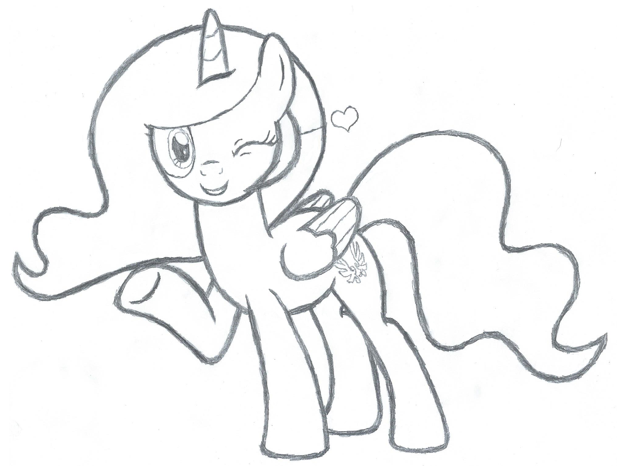 2016x1524 Mlp Pencil Trace Holly 2 (Redone) By Sfrhk678