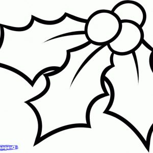 300x300 printable christmas holly coloring pages archives