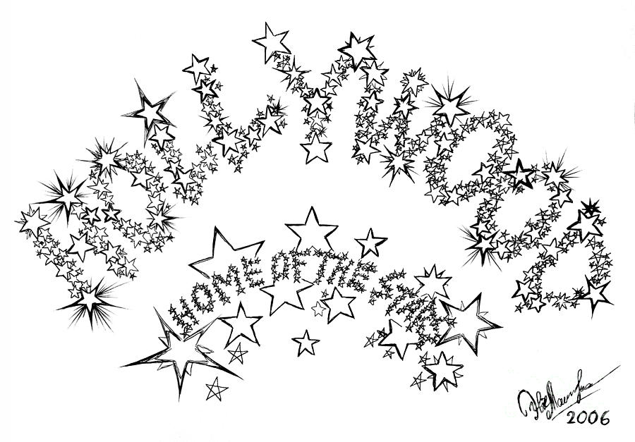 900x627 Hollywood. Home Of The Stars Drawing By Sofia Metal Queen