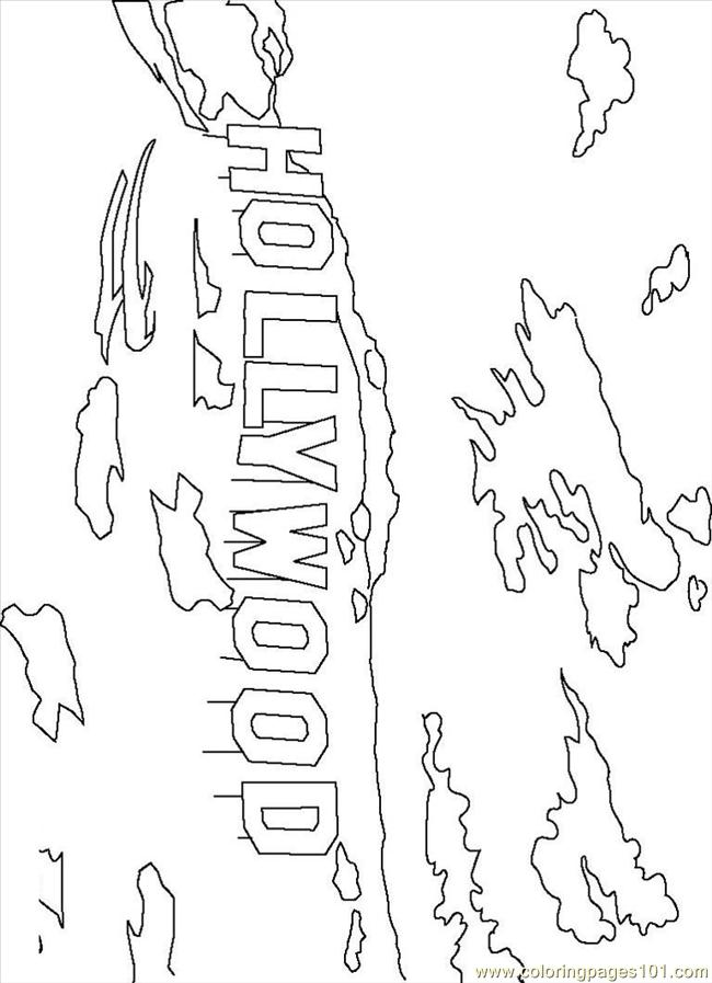 650x897 Hollywood Sign Coloring Page