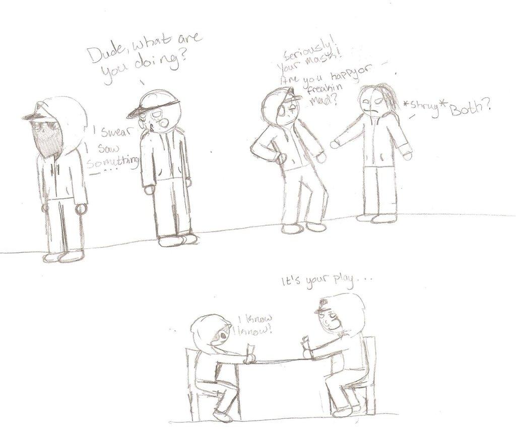 1024x852 Hollywood Undead (New Cartooning Style) By Lovesleonardo