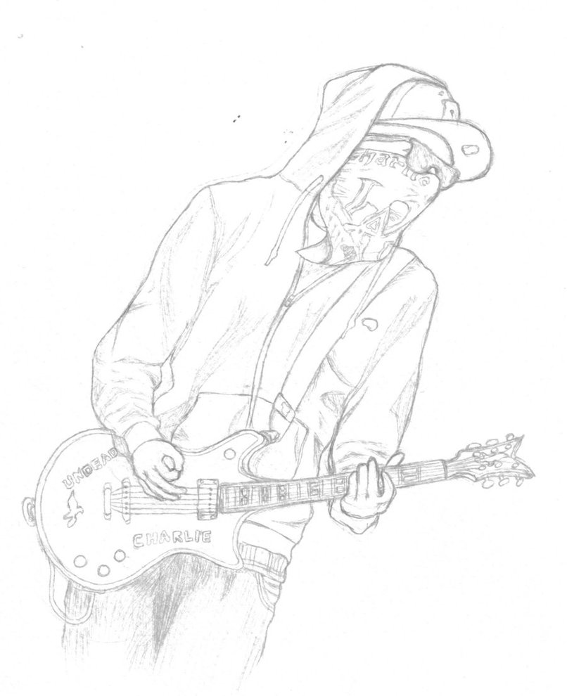 806x990 W.i.p. Charlie Scene And Guitar By Istenox