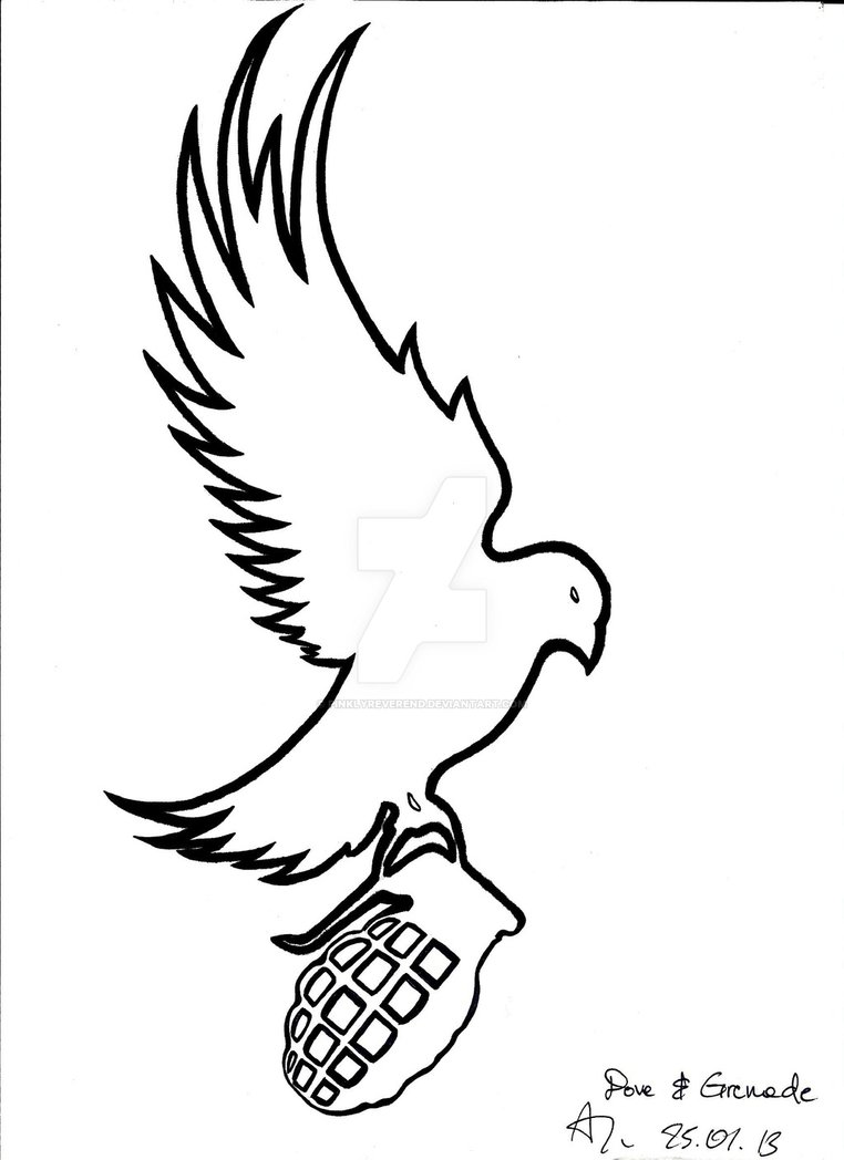 762x1048 Dove And Grenade By Pinklyreverend