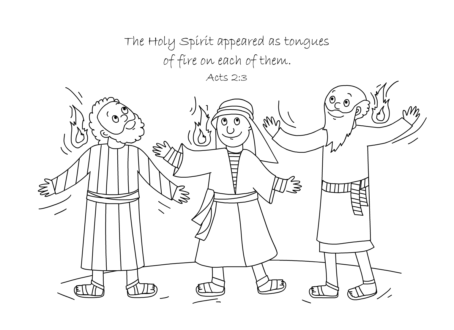 1528x1111 Free Bible Coloring Page Holy Spirit Comes