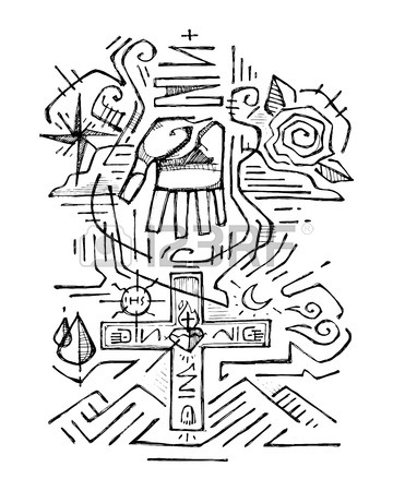 360x450 Hand Drawn Vector Illustration Or Drawing Of A Religious Cross