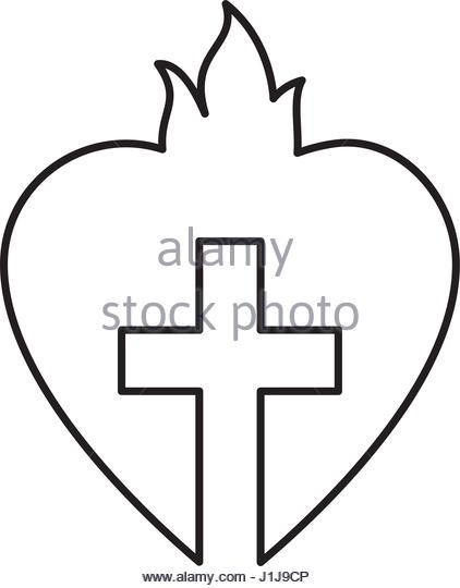 422x540 Holy Heart Love Icon Vector Stock Photos Amp Holy Heart Love Icon