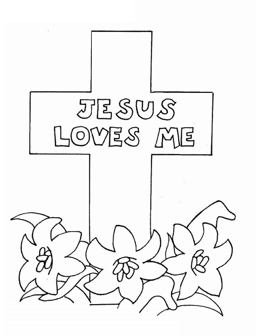 religious easter coloring sheets - People.davidjoel.co