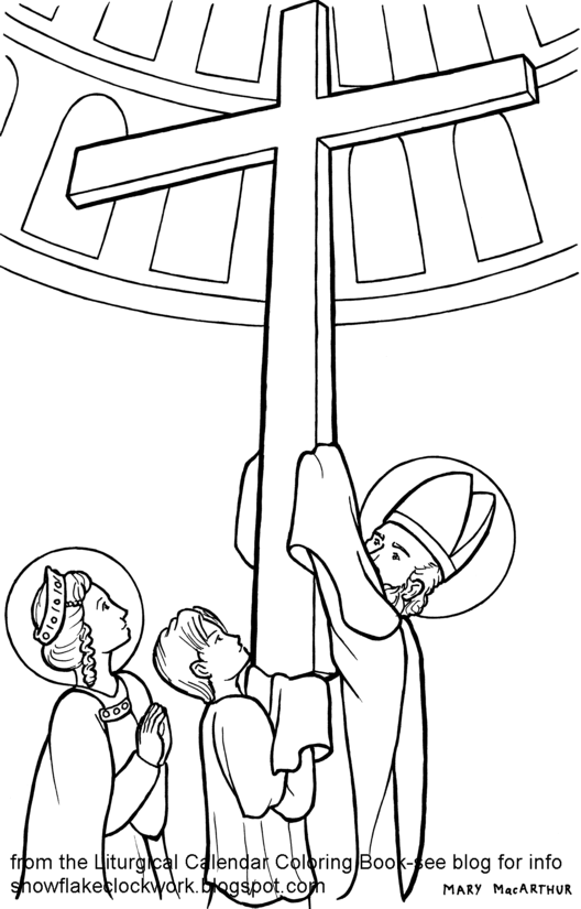 528x825 Sketches And Subcreations Exaltation Of The Cross Coloring Page