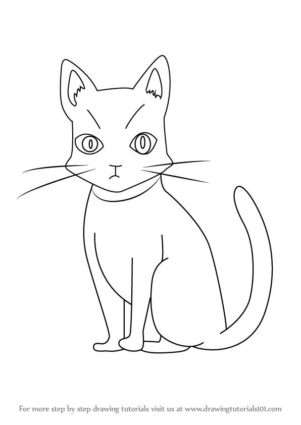 596x842 Learn How To Draw Cammot Cat From Holy Knight (Holy Knight) Step