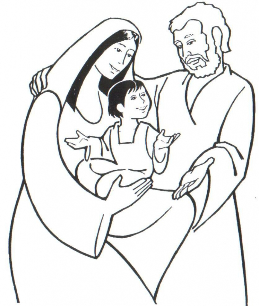 866x1024 The Holy Family In Holy Family Coloring Pages