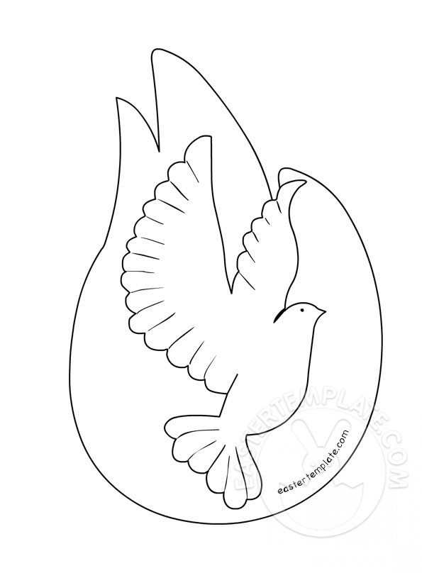 595x808 Holy Spirit Dove Template Printable Easter Template