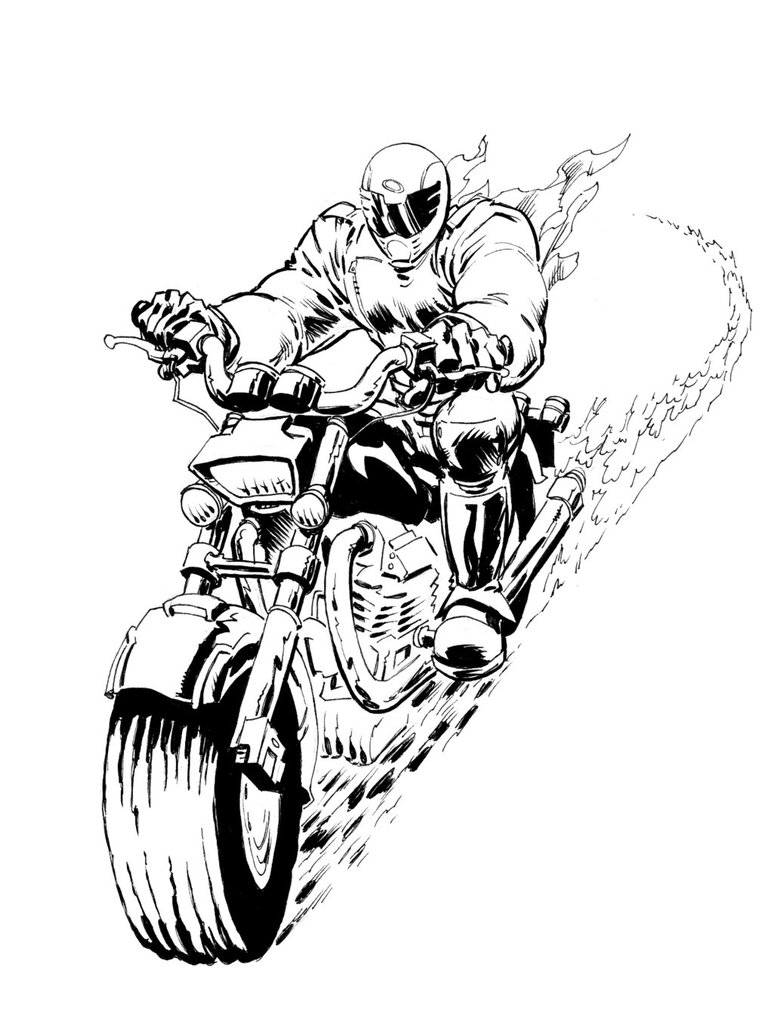 774x1032 Holy Ghost Rider Inked By Vagabondx