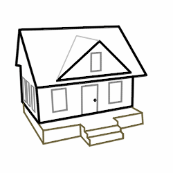 250x250 Drawing Cartoon Houses