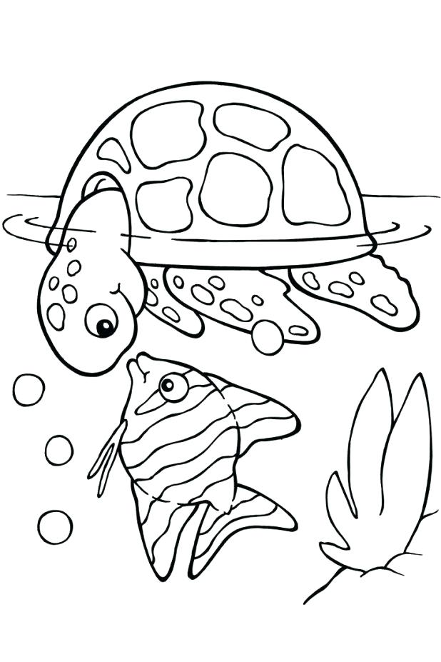 618x927 Lobster Coloring Page Viewing Gallery For Cute Turtle Drawing Sea