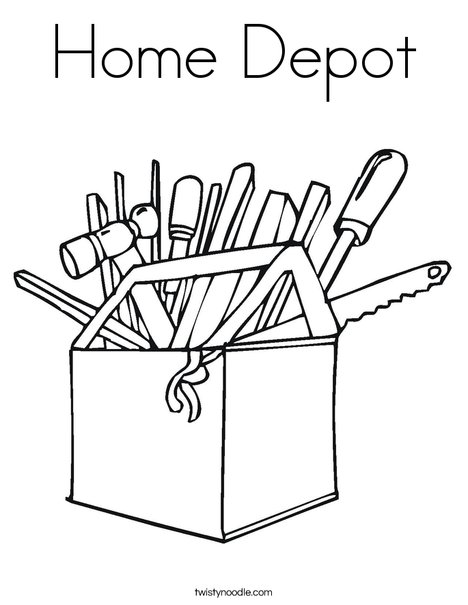 468x605 Home Depot Coloring Page