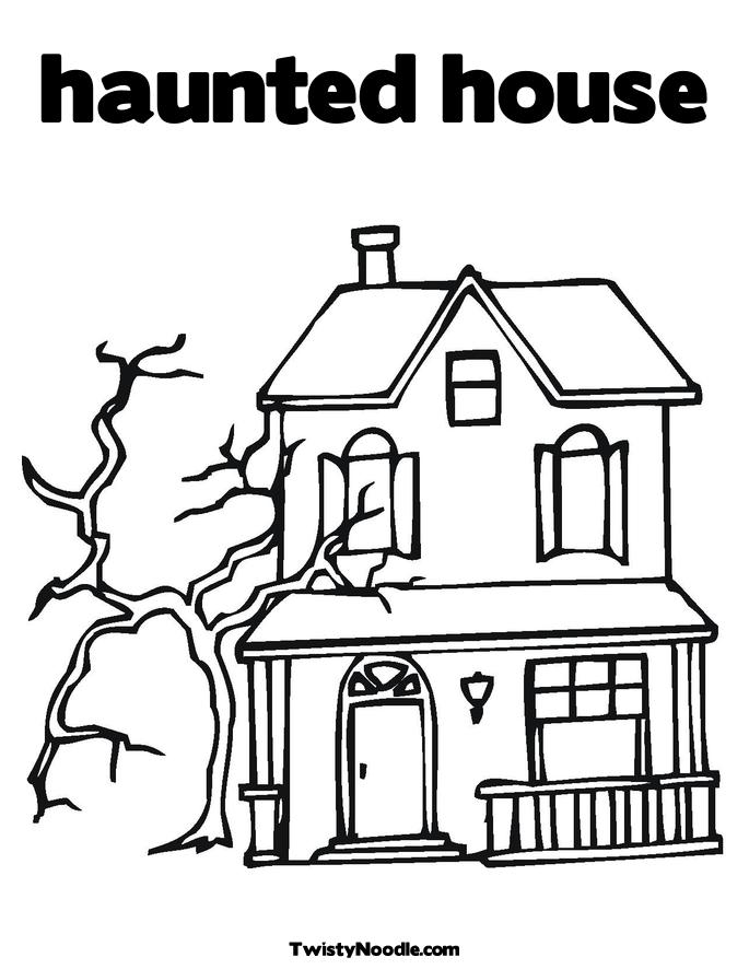 Haunted House Drawing Step By Step