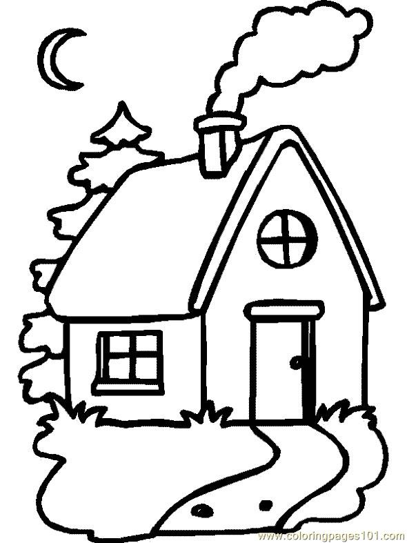 590x787 Wonderful Simple Home Drawing Images
