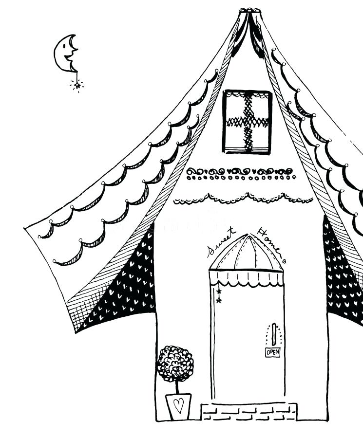 745x900 Sweet Home Drawing
