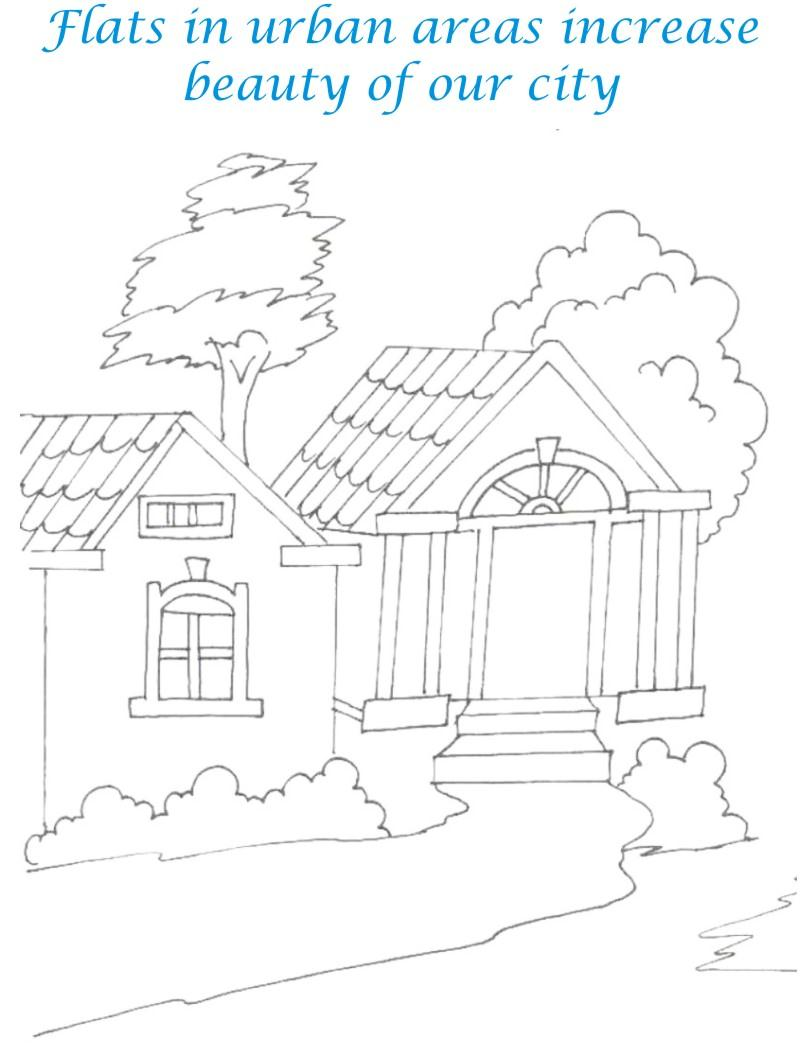 800x1056 Pictures Sweet Home Drawing,